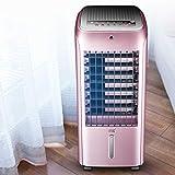 LCDP Un Solo Ventilador de Aire Acondicionado frío, 4 Ruedas universales Que se mueven Enfriador de Aire de Control Remoto Inteligente con enfriadores de deshumidificador Hogar Dormitorio,Purple