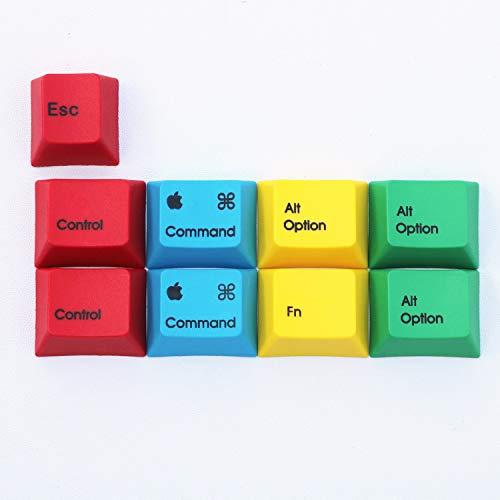 YEZIO Keycaps für Keyboards 9 Tasten/Set Sublimationsdruck Um PBT RGBY MAC/Win Tastkappen Kirsche Profil Mechanische Tastatur Key Caps for Ikbc Kirsche Filco Akko Universal (Colore : MAC)
