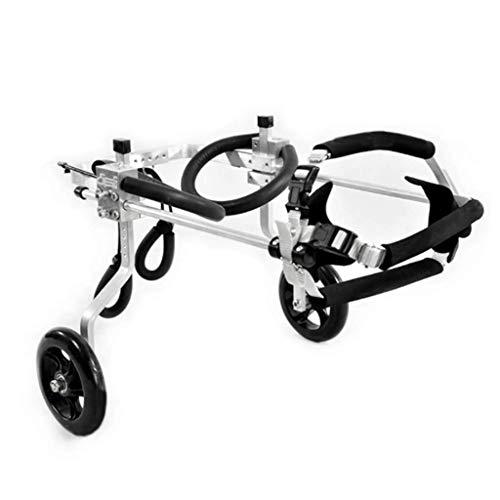 Regulowany wózek dla psów, 2-kołowy dla większości psów, 0-60 kg, dopuszczony przez weterynarzy, dla zwierząt domowych, kotów, inwalidzkich i tylnych