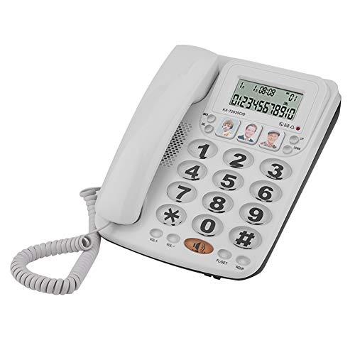 Vipxyc Teléfono con Cable, teléfono Fijo con Manos Libres/reducción de Ruido, contestador...