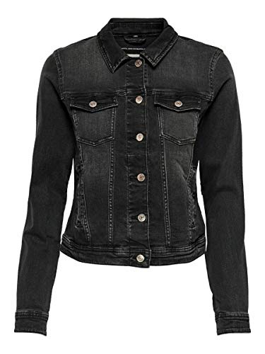 ONLY Damen Jeansjacke Tia Life 15202615 Black Denim 38