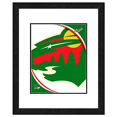 Minnesota Wild NHL Framed 8x10 Photograph Team Logo and Hockey Puck