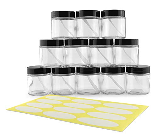 4-Ounce Clear Glass Jars (12-Pack)