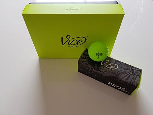 Vice Pro Plus Golf Balls, Lime (One Dozen)