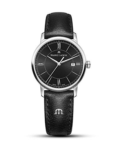 Maurice Lacroix Damen Analog Quarz Uhr mit Leder Armband EL1094-SS001-310-1