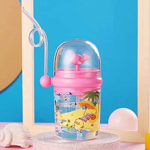 Water cup 250ML Water Bottle Infant Cup ChildrenJuice Drinking Milk Bottle Little Whale Sprays Water For To Play gift (Color : 02)
