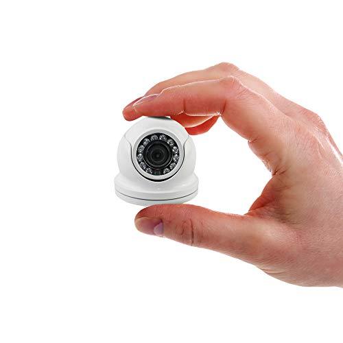Interwebz (TVI CVI AHD Analog) Mini Dome Camera 1080p Security Camera Weatherproof MicroDome 2MP 4 in 1 Hybrid 3.6mm Infrared Night Vision CCTV Video Surveillance HD Over Coax