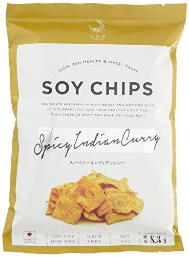 SOY CHIPS(ソイチップス)インディアンスパイシーカレー 50g×12個
