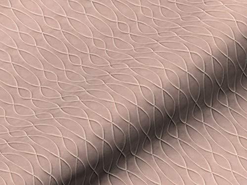 Dobladillo & Viebahn GmbH & Co. Telón tela, diseño abstracto, color rosa, tela de alta calidad por metros, para cortinas, opaco