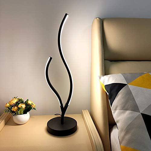 Lámpara De Mesa Dormitorio Cama De Noche Creativa Romántico Cálido Hogar Simple Moderna Red Lámpara De Mesa Sin diodo aurora y control remoto Lámpara de mesa blanca