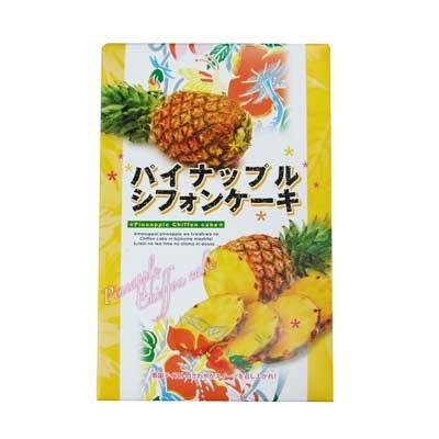 パイナップルシフォンケーキ 大 15個入×5箱 幸栄堂 甘酸っぱいパインをふわふわのシフォンケーキに閉じ込めたスイーツ 沖縄土産におすすめ