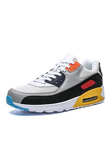 Zapatillas de deporte unisex con cojín de aire para deportes al aire libre, tenis casual, color Amarillo, talla 38 EU