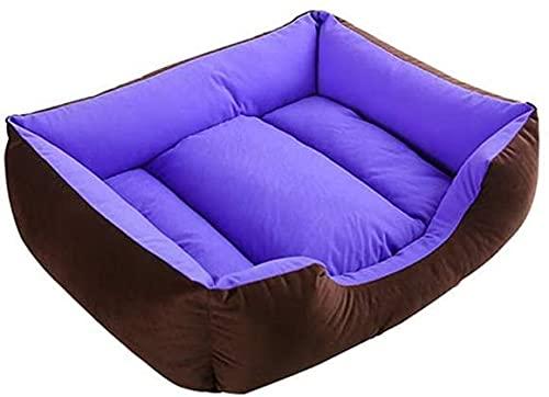 Camada de Mascotas, Basura para Perros, Basura para Gatos, Pequeña Almohadilla para Mascotas con PP Relleno de Algodón y Lavable (Color : Purple, Size : Medium)