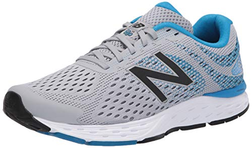 New Balance Men's 680 V6 Running Shoe, Silver Mink/Vision Blue, 8.5 XW US