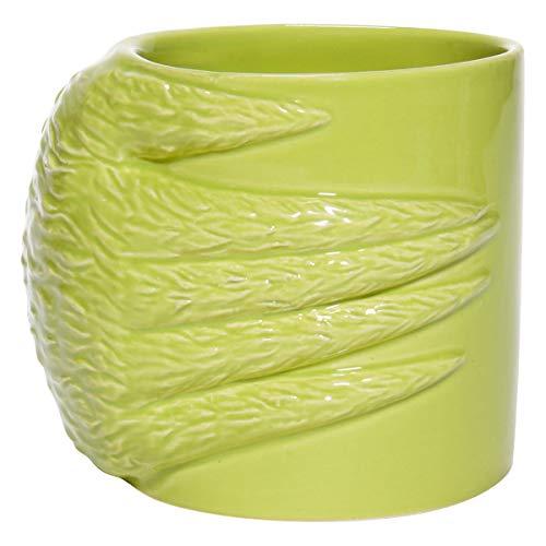 Department 56 Dr. Seuss the Grinch Hand Nope Sculpted Coffee Mug, 18 Ounce, Green