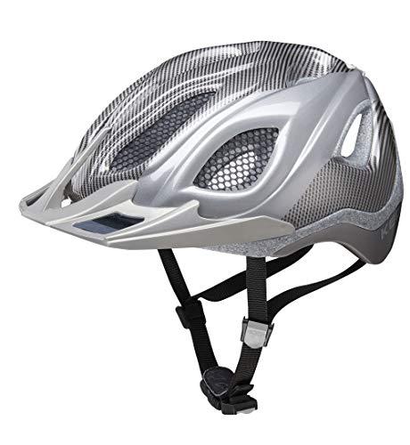 KED Certus K-Star L Silver k-Star - 55-63 cm - inkl. RennMaxe Sicherheitsband - Fahrradhelm Skaterhelm MTB BMX Erwachsene Jugendliche