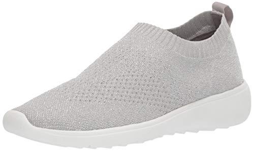 Anne Klein Women's Wiley Knit Sneaker, Grey, 10.5 M US