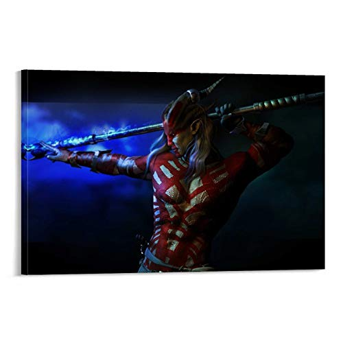 DAFEIJI PC Gaming Dragon Age Inquisition Poster Pintura decorativa lienzo arte de la pared de la sala de estar carteles pintura dormitorio 60 x 90 cm