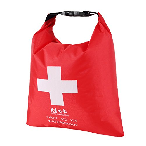 Gazechimp kleine Wasserdichte Tasche, 1,2 Liter leere Erste Hilfe Pouch First Aid Stausack Aufbewahrungstasche für Outdoor Sport Camping Wandern Reisen Snowboarding Notfalltasche