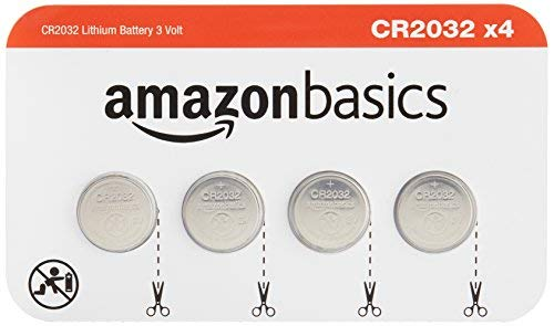 AmazonBasics CR2032 3 Volt Lithium Coin Cell Battery - Pack of 4