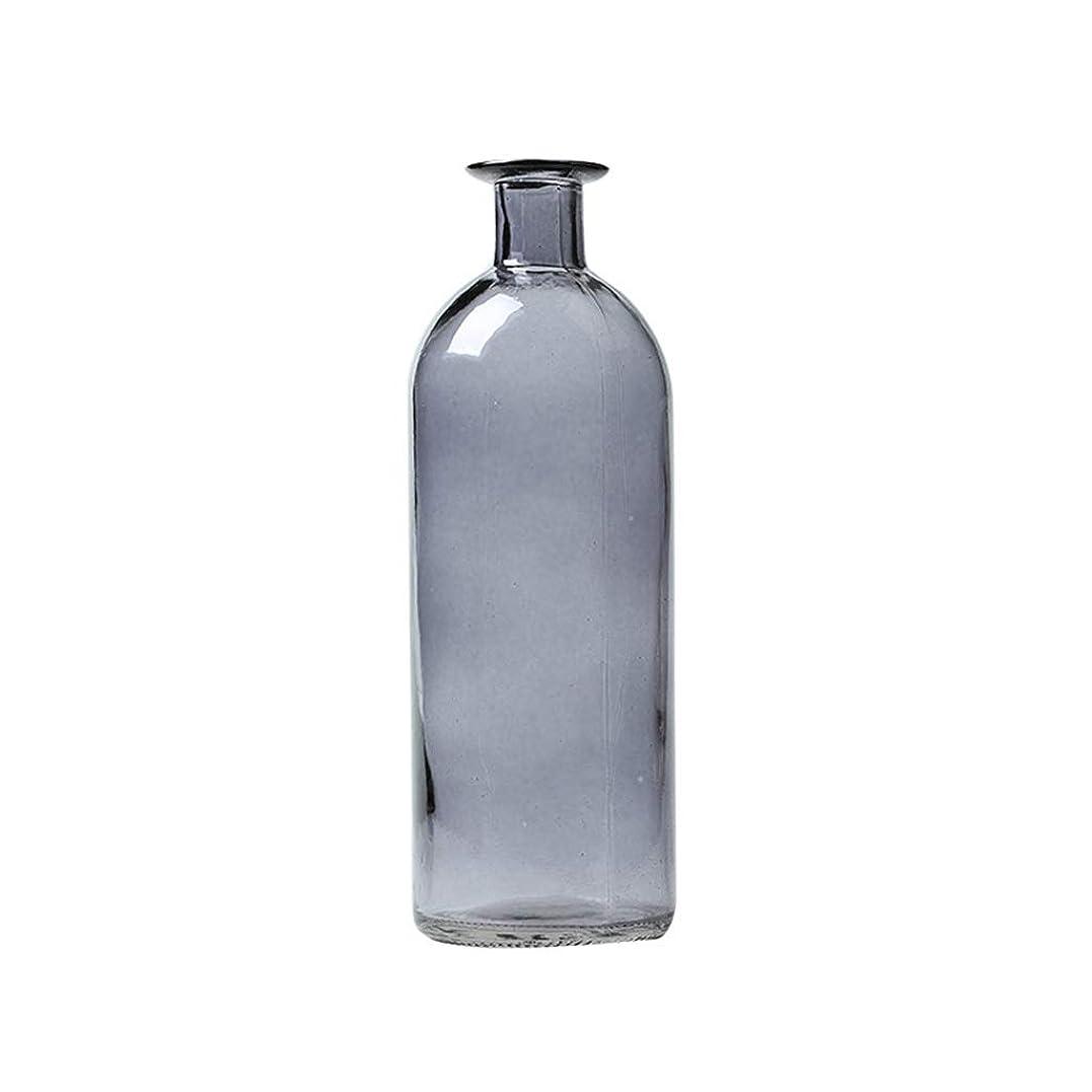 輪郭気楽な解放するC-J-Xin 家庭用ガラス花瓶、ベッドサイドテーブルテレビキャビネット装飾花瓶小口径透明花瓶高さ11-20CM 装飾用の花瓶 (Color : Gray, Size : 7*7*20CM)