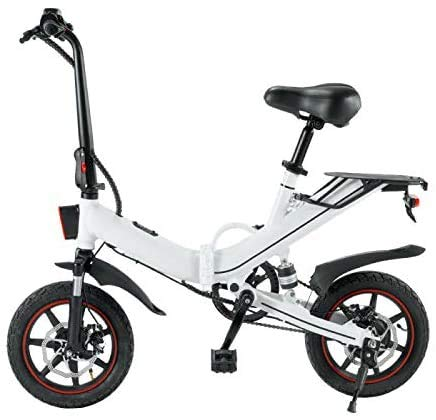 Blue Pigeon V5 eléctrico plegable 3 engranajes pedal asistencia bicicleta 14 pulgadas...