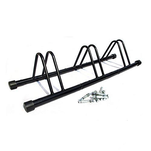FSYG Negro Bicicletas Soporte para 3 Bicicletas Suelo Pared Montaje Metal Galvanizado Almacenamiento Stand For Aparcargaraje Almacenamiento JardíN O Cobertizo (30 × 35 × 123 Cm)