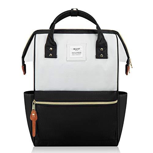 Hethrone Damen Rucksack Laptop Backpack 15,6 Zoll Wasserdicht Schulrucksack Anti Diebstahl Tagesrucksack ür Schule Uni Reisen Freizeit Job mit Laptopfach Schwarz Weiß
