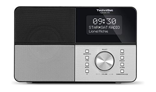 TechniSat Digitradio 306 DAB Radio (DAB+, UKW, AUX-Eingang, Kopfhöreranschluss, Favoritenspeicher, Wecker, beleuchtetes Display, Uhr und Datumsanzeige) schwarz