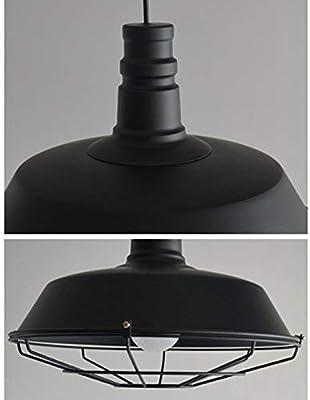 Gorkuor Leuchter Nordischer Retro industrieller hängender Leuchter, kreative Topfabdeckung, persönliche Restaurant-Bar-Café-Beleuchtung by (Farbe : Black)