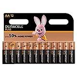 Duracell LR06 MX1500 - Plus AA, pilas alcalinas (paquete de 12) 1.5 voltios