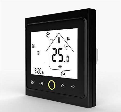 WiFi thermostaat thermostaat temperatuurregelaar voor water/elektrische vloerverwarming Works doorstroomverwarmer gas BHT 002 GB Zwart