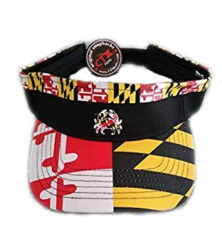 Visor - Maryland Flag Pattern with MD Crab Yellow
