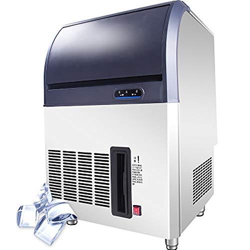 XUMI Machine à Glaçons, 50KG/24H Commercial 380W Machine à Glace Machine en Acier Inoxydable Contrôle Numérique Machine à Glaçons Réfrigération Haute Capacité pour Bars Supermarchés