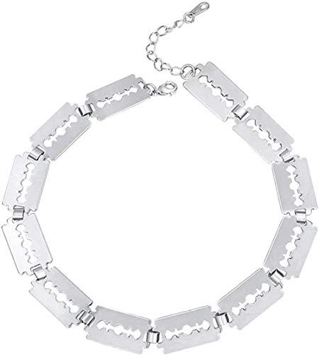 huangxuanchen co.,ltd Choker Halskette Klinge Rasiermesser Link Kette Choker Coole Frauen/Männer Geschenk Farbe Halsketten