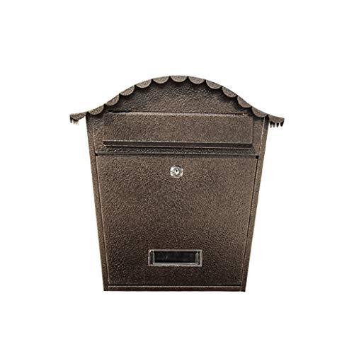 LQZYTY Modischer kreativer Outdoor-Briefkasten, einfache europäische Villa, wasserdicht, exquisiter Briefkasten zum Aufhängen an der Wand