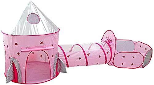 campeggio Tenda facile da spiaggia Tenda per Bambini Tenda da gioco per Bambini e Tunnel 3 in 1 Tenda Pop-up Toddlers Crawl Tunnel Casetta da gioco Tenda pieghevole con sacchetto di immagazz