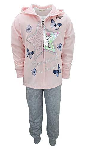 Girls Fashion - Chándal - para niña Rosa 80 cm/ 76,2 cm-81,28...