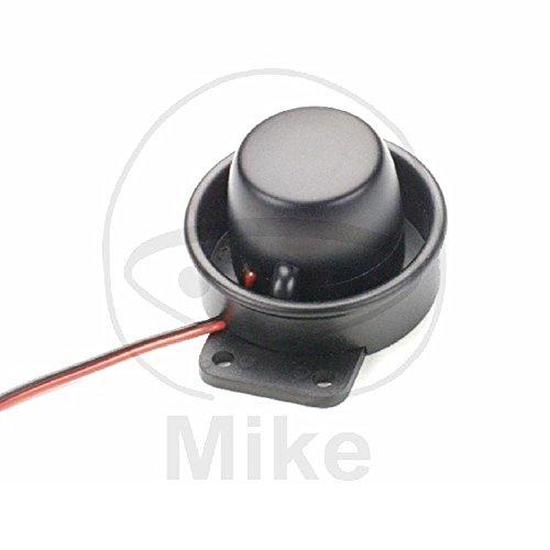 M+S Motorrad-Piezo-Alarmsirene Spritzwassergeschützt, mit 108 dB extrem laut, Ø ca. 7,5 cm, Tiefe ca. 5 cm, zur Unterstützung von Alarmanlagen geeignet.
