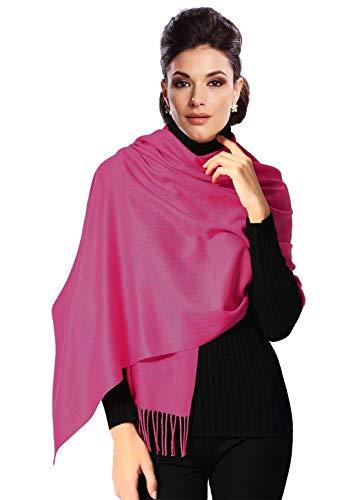 Moschen-Bayern Pashmina Stola Damen Schultertuch Schal Hochzeit Abendkleid Dirndl festlich elegant Rosa - Pink