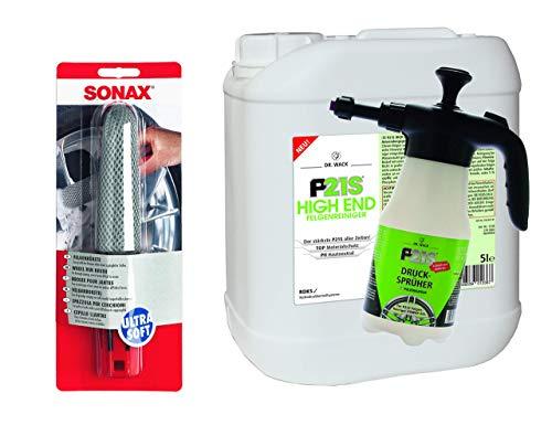 P21S 5L Dr.Wack High End Felgenreiniger Sonax Felgenbürste + Pumpdrucksprüher