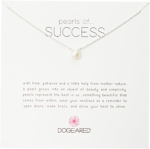 Dogeared Pearls of Success, Small White Pearl, Silver Chain Necklace, 16