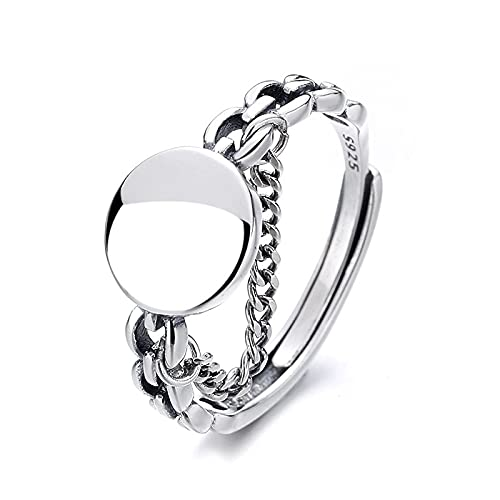 awaFanee S925 Sterling Silver Open Rings Healthy Retro Finger Joint Toe Ring Party Wedding Cute Jewelry Gifts Women Girls Band Adjustable Size 5-10 Under
