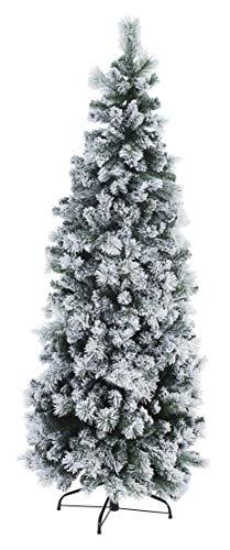 Bizzotto Albero Natale Slim Praga Innevato H210-803 Rami cod.0933554
