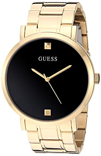 GUESS Men's Analog Quartz Watch with Stainless Steel Strap, Gold, 21.8 (Model: U1315G2)