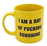 Island Dogs Ray of Fucking Sunshine Giant novelty coffee mug, 22 oz, Yellow