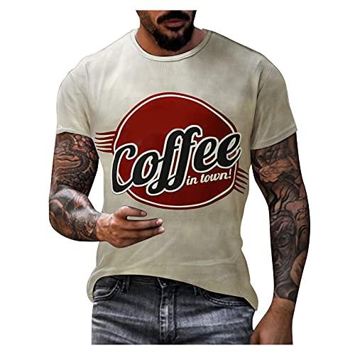 BIBOKAOKE Herren T-Shirt Klassischer...