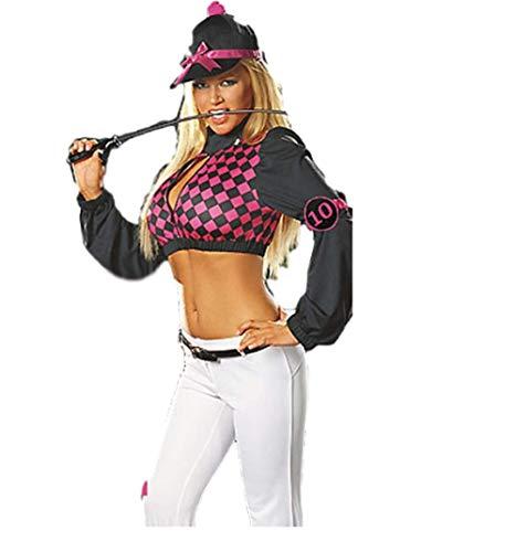Top Totaal Sexy Paard Paard Rijden Jockey Vrouwelijke Outfit Kostuum, M Size 8-10, Multi kleuren