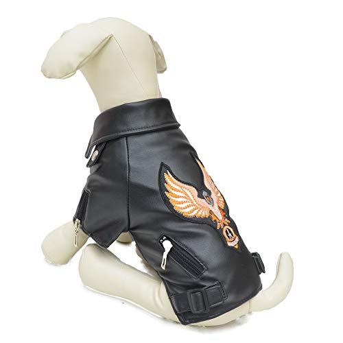 Lovelonglong coole Hunde-Lederjacke, warme Mäntel Hunde winddicht kaltes Wetter Mäntel für große, mittelgroße und kleine Hunde