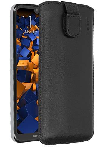 mumbi Echt Ledertasche kompatibel mit Nokia 2.2 Hülle Leder Tasche Hülle Wallet, schwarz